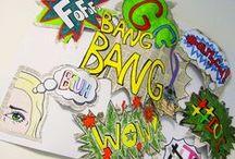 VÝTVARKA -  NÁPISY A GRAFFITI / výtvarná výchova 2. stupeň, graffiti, nápisy, pop-art, Romana Bachelová