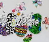 VÝTVARKA - VELIKONOCE / výtvarná výchova 2. stupeň, Velikonoce, kraslice, vajíčko, pomlázka, malovna, Romana Bachelová