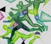 VÝTVARKA - ČLOVĚK (tělo) / výtvarná výchova 2. stupeň, tělo, postava, osoba, člověk, pohyb, Romana Bachelová