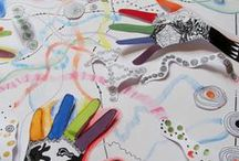 VÝTVARKA - RUCE / výtvarná výchova 2. stupeň, ruce, ruka, palec, otisk, papilární linie, Romana Bachelová