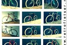 Singlespeed & fixed gear design bikes. / Life is like, riding a bicycle. To keep your balance, You must keep Moving.