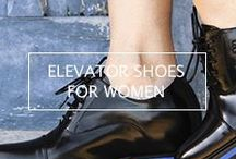 Women's Elevator Shoes / This is definitely an underserved market! While ladies love their heels, they can be uncomfortable, unsteady, and inappropriate, for some fashion choices. These Women's elevator shoes are styled and crafted for women, not just 'rebranded' men's shoes. Best of all, they allow a woman to stand taller without calling attention to their hidden benefit: 21st Century lift technology that's comfortable and secure. Made for the woman that appreciates fine Italian footwear and wants to stand taller!