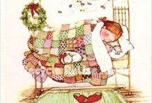 Holly Hobbie Art / I love these Holly Hobbie childhood memories...