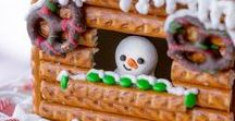 Gingerbread Mansion & houses & cabins & cottages & trailers & tee pees / Gingerbread abodes