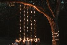 Twinkling Lights Under the Stars / Alfresco dining and entertaining under the night sky