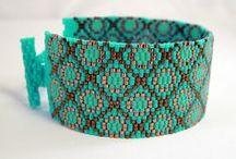 Peyote bracelet & pendants 2