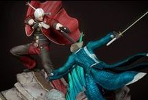 Devil May Cry - Sons of Sparda Dioramas / Here are the final sculpts of our Devil May Cry - Sons of Sparda dioramas. Preorder information will be released soon !