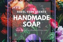 Handcrafted Hot Process Soap / Handmade soaps by Johna Gibson Bowman at Hazel Fern Scents. Most are vegan and all are palm oil free. Handcrafted soap, bastille soap, hot process soap, artisan soap, indie soap, bar of soap.