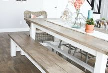 Modern/Rustic Farmhouse Dining Rooms