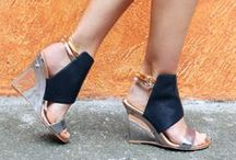 Metallic Moment / Metallic heels and flats in gold, silver, bronze and beyond.