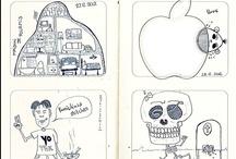 Drawings: The infamous Heg Van Nasche / Moleskine scans