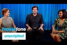 celeb interviews / Moviefone's Unscripted features movie stars interviewing each other using questions submitted by YOU.