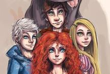 Five Worlds, One Team / The five worlds from Rise of the Guardians, How to train your dragon, Brave, Tangled and Frozen