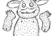 DIY - Grüffelo / Welches Kind kennt den Grüffelo nicht? So hässlich und doch so süß. Eine Pinnwand voller Grüffelos und seiner Freunde.