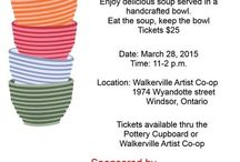 Windsor Essex Empty Bowls Project / Potters coming together to help fill the empty bowls in our community.