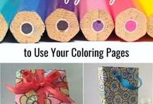 Coloring Page Crafts / Not sure what to do with your finished adult coloring pages? Here are some great ideas to turn your pages into something new!