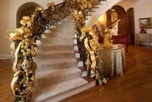 Christmas staircase and foyers