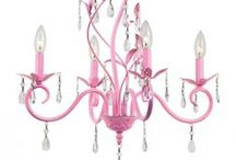 Pink Chandeliers / Pink flavored chandeliers, lamps, pendants, wall lights and more.