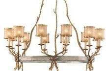Antler Chandelier / Antler chandeliers, flush lights, fan lights, sconces and other lighting fixtures perfect for the country/rustic style home.