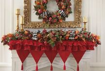 "Christmas Mantel / ""The gift of love. The gift of peace. The gift of happiness. May all these be yours at Christmas."" Unknown Author!"