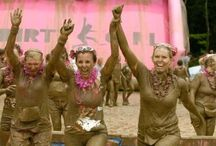 Mud Runs and Obstacle Races / My bucket list includes competing in a mud run of some kind. Ultimately, I would like to compete in Tough Mudder, so lots of training and some shorter courses will be necessary to get ready!!
