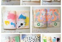 Art/Projects and Inspiration / As an art teacher I love spending some few time every day searching great art projects for inspiration. Here are my favorites projects from Pinterest that I apply to my class and at home.
