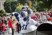 Lovable Mascots / We love the many mascots of College Football, including our own Fumbles