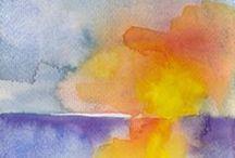Acquerelli / Acquerelli su carta Fabrano 300gr colori alta qualità