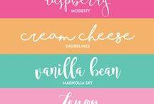 Graphic Design/Fonts and Handlettering / My favorite resources for fonts that I use in my designs.