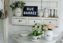 pale and french interiors / Pale and French decorative interiors and home decor. Get inspired by French brocante and country style.