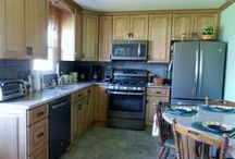 Before and After Photos of customers kitchen in Reading, PA / Kitchen done in Silestone Kona Beige