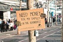Concienciación social / Lo que este mundo necesita es un poco de conciencia social.
