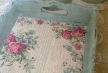 DECOUPAGE DIY- HOW TO's & INSPIRITATION / IS DECOUPAGE BACK IN FASHION OR HAVE I CHANGED SINCE GETTING OLDER???