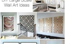 WALL PAPER WALL ART / DIY inexpensive ways to decorate your walls great for people who rent or like to change their decor often