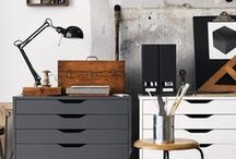 Studio Inspiration / Artist studios, set ups, organization, ideas for the home studio!