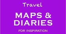 Travel Maps and Diaries / Travel Journals   Travel Maps   Travel Infographics   Travel Quotes - everything you need to fire up your wanderlust