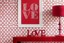 Valentine's Day Home Decor / Red spaces, pink places. Red and pink-infused home decor inspired by Valentine's Day.