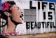 Banksy / graffiti, street art royalty. / by Gerald Posley
