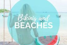 Bucket list Beaches & Bikinis / We love everything about the beach... sand, waves, beach chairs, beach umbrellas, ocean, sand castles, you name it! From Myrtle Beach in the USA to The Best Beaches in the Caribbean, Central America, Africa and Asia, we love to take you there! Hannah also could live in a bikini. While traveling, she travels with 7+ bikinis at all time... You've got to look cute on the beach, right?    Read more on: gettingstamped.com/?s=beach
