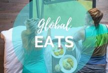 Global Eats & Travel Recipes / Global Eats & Travel Recipes Discover (and make) tasty treats from around the world! || Read more on: gettingstamped.com/?s=food