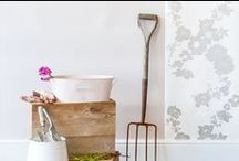 Geo Fleur : Get The Look, Living Space / Get The Look for your living space with Laura Felicity Design's Geo Collection; Wallpaper, and Window Blinds (roman or roller).