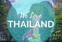"""Thailand Love / Our favorite city in the world BANGKOK! This crazy city is one that cannot be missed when in Thailand. Koh Lipe in Thailand, also known as """"The Maldives of Thailand"""" is our favorite island in the world! The pictures explain why... come discover this slice of heaven with us.    Read more on: gettingstamped.com/thailand"""