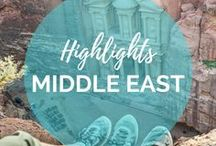 Middle East Travel Highlights / A fascinating part of our world, yet so many never visit... here's some inspiration to discover the Middle East with amazing countries such as Jordan, Israel, Iran, Oman and Abu Dhabi.  || Read more on: gettingstamped.com/destinations