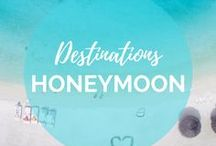 Honeymoon Destinations / After all the fun of planning a wedding let's get real... we're all looking forward to the honeymoon. But where to go? Are you looking for an affordable or all-inclusive honeymoon, a safari or a unique honeymoon to a place your friends have never heard of? We're here to help! We've been to some amazing places around the world that would make for an epic honeymoon. || Read more on: gettingstamped.com/?s=Honeymoon