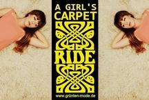 """Spring Summer 2013 / """"A girl's carpet ride"""" - 60s inspired dresses worn on a flokati carpet www.grunten-mode.de"""