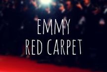 The Emmy's Red Carpet / On Sunday night, the Emmy's Red Carpet was an array of rich jewel tones and tiny clutch bags. Royal - Emerald - Ruby - & - True Red tones. The bags small and shimmery...just like the Patina, Gem Drops, and Furocious Evening.