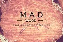 Mad Wood / Mad Style Wood Collection. In the latest fashion trends, the interest in wood is growing, especially by young, edgy, ground-breaking, outre and innovative designers. We are seeing a unique selection of accessories, in which the use of wood appears to be quite extra-ordinary.   Handbags, watches, glasses, desk clocks.  #mymadstyle