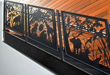 Designs by NatureRails - Artistic #Deck, #Balcony and #Stair #Railing / Uniquely designed #railing for #decks, #stairs and #balconies. Designs cut from steel and powder-coated. Durable enough for indoor or outdoor use. We also make custom fireplace screens, #murals and #gates.  If you can imagine it, Rob can design it.  Visit us on the web! www.NatureRails.com Made in the USA!