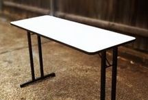 Folding Tables / A range of folding tables for convienience, student desks for studying or exams, and cafe tables for an air of intimacy.  These tables, available for sale or hire, are designed to add the right type of style to your event. Many of the tables are hand made by Folding Tables Direct, so we can also make custom designs.