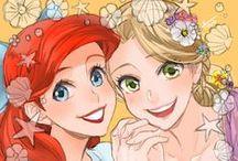 Ariel y Rapunzel / by Elena Rodriguez Bonilla